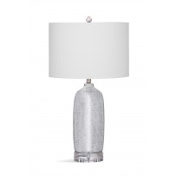 Bassett Mirror Company Bentham Silvertone Resin 27-inch Table Lamp with White Shade