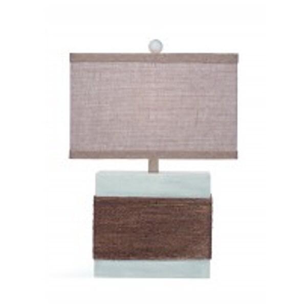Bassett Mirror Company Lela Grey Natural Material 24-inch Table Lamp