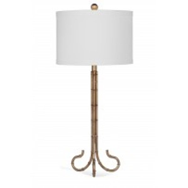 Bassett Mirror Company Linley Gold Natural Material 33-inch Table Lamp