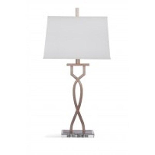 Bassett Mirror Company Fallston Silver-leaf 32-inch Table Lamp