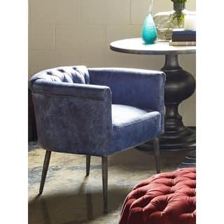 Aurelle Home Miccio Leather Arm Chair|https://ak1.ostkcdn.com/images/products/14415408/P20983512.jpg?impolicy=medium