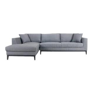 Aurelle Home Casual L-shape Sectional Sofa Left