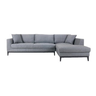 Aurelle Home Boots Fabric Sectional Right Cappucino