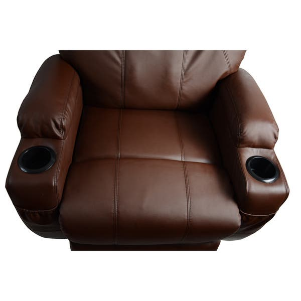 Excellent Shop Mcombo Brown Massage Recliner Vibrating Sofa Heated Bralicious Painted Fabric Chair Ideas Braliciousco