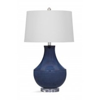 Bassett Mirror Company Kayley Blue Ceramic 32-inch Table Lamp