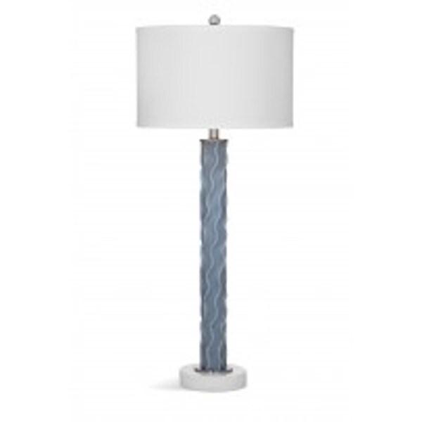Isla White/Grey Glass 38-inch Table Lamp
