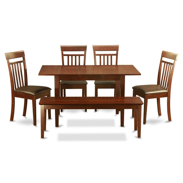12 Piece Dining Room Set: Shop Mahogany 6-Piece Dining Room Set With Dining Bench