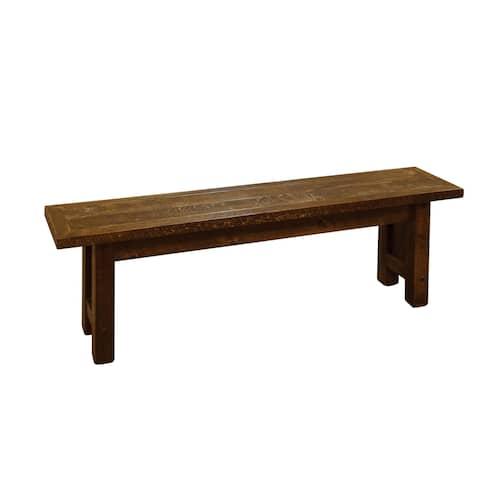 Barnwood Style Timber Peg - Farm/Dining Bench