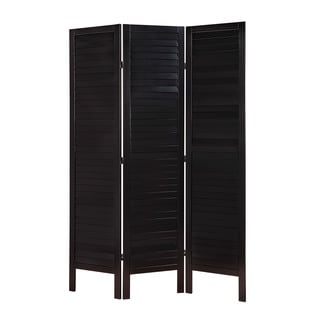 Acme Furniture Trudy II Black Wooden 3-panel Screen