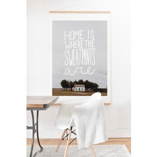 'Home Is Where The Sweatpants Are' Wall Art with Hanger