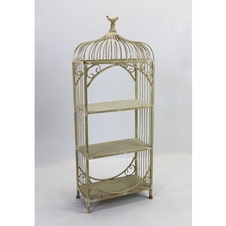 Timeworn Metal Birdcage Shelf