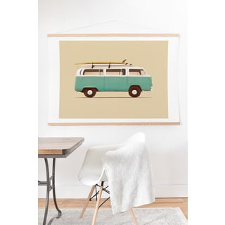 Florent Bodart Famous Cars 5 'Blue Van' Art Print and Hanger