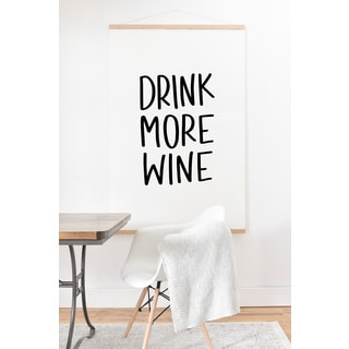 Chelcey Tate 'Drink More Wine' Art Print and Hanger