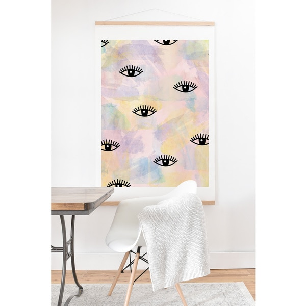 Hello Sayang 'Eye Blush' Art Print and Hanger