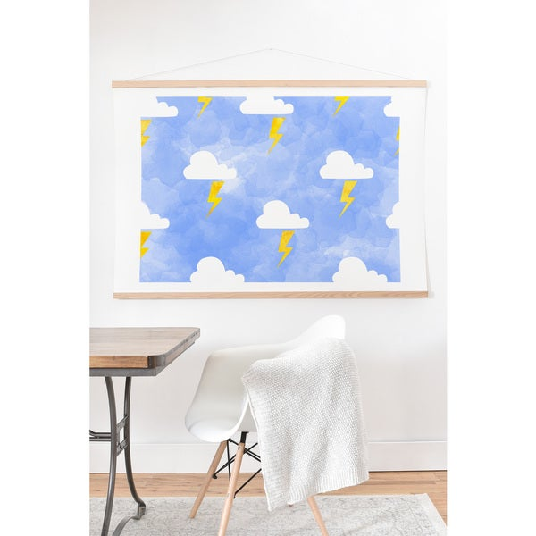 'Hello Sayang Thunderstorm' Art Print and Hanger