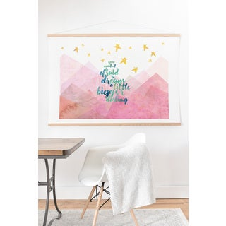 Hello Sayang 'You Mustn't Be Afraid To Dream A Little Bigger Darling' Art Print and Hanger - 40 X 30