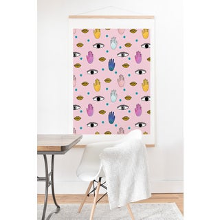 Hello Sayang 'Eye Hands Lips Dots' Art Print and Hanger