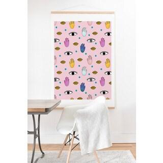 Hello Sayang 'Eye Hands Lips Dots' Art Print and Hanger