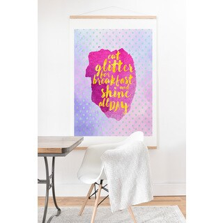 Hello Sayang 'Eat Glitter For Breakfast' Art Print and Hanger