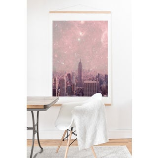 Bianca Green 'Stardust Covering New York' Wall Art with Hanger