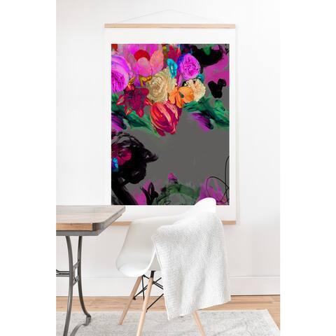 Biljana Kroll 'Floral Storm' Art Print and Hanger - 40 x 30