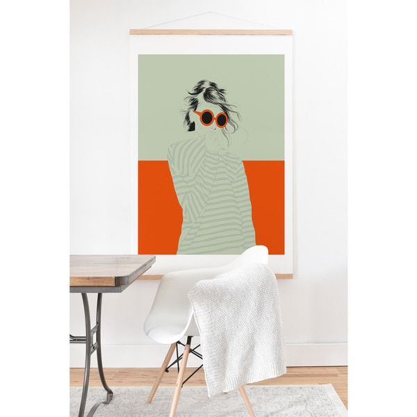 'The Red Wolf Woman' Color 10 Art Print and Hanger - 40 x 30