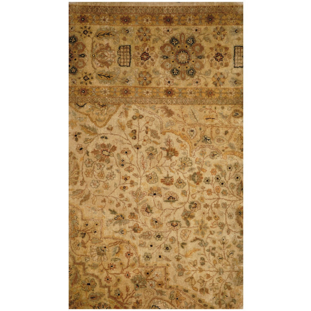 Herat Oriental Indo Hand-knotted Vegetable Dye Oushak Woo...