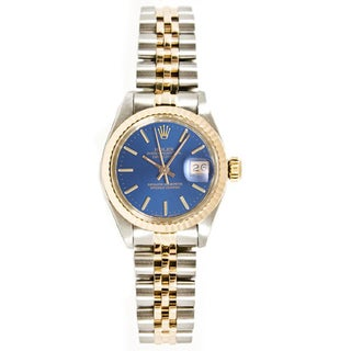 Pre-owned Rolex Stainless Steel & 18K Gold Datejust Jubilee Braclet Gold Fluted Bezel Watch