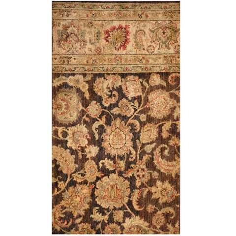 Handmade Herat Oriental Indo Vegetable Dye Oushak Wool Rug - 2'2 x 4' (India)