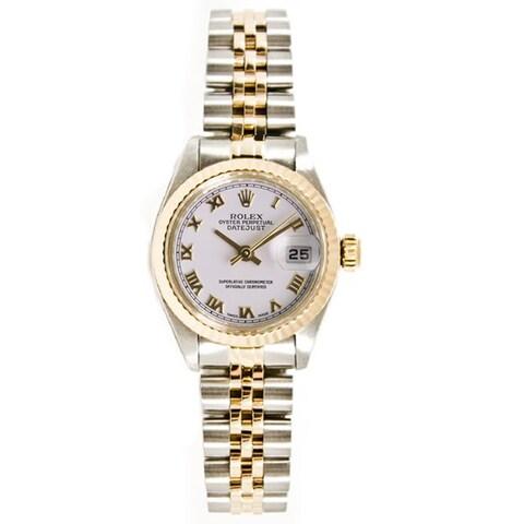 Pre-owned Rolex 18k Gold over Steel Women's 26mm Datejust Jubilee Bracelet Watch