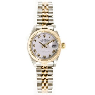 Pre-owned Rolex 18k Gold over Steel Women's 26mm Datejust Jubilee Bracelet Watch