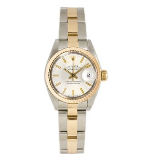 Pre-owned Rolex 18k Gold over Steel Women's 26MM Datejust Oyster Watch
