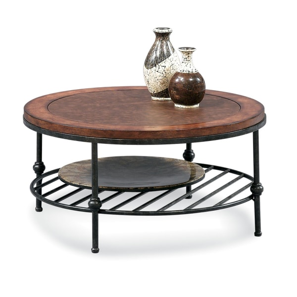 Shop Bassett Mirror Bentley Cocktail Table With Leather