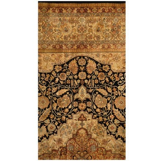 Handmade Herat Oriental Indo Vegetable Dye Oushak Wool Rug (India) - 2'2 x 4'