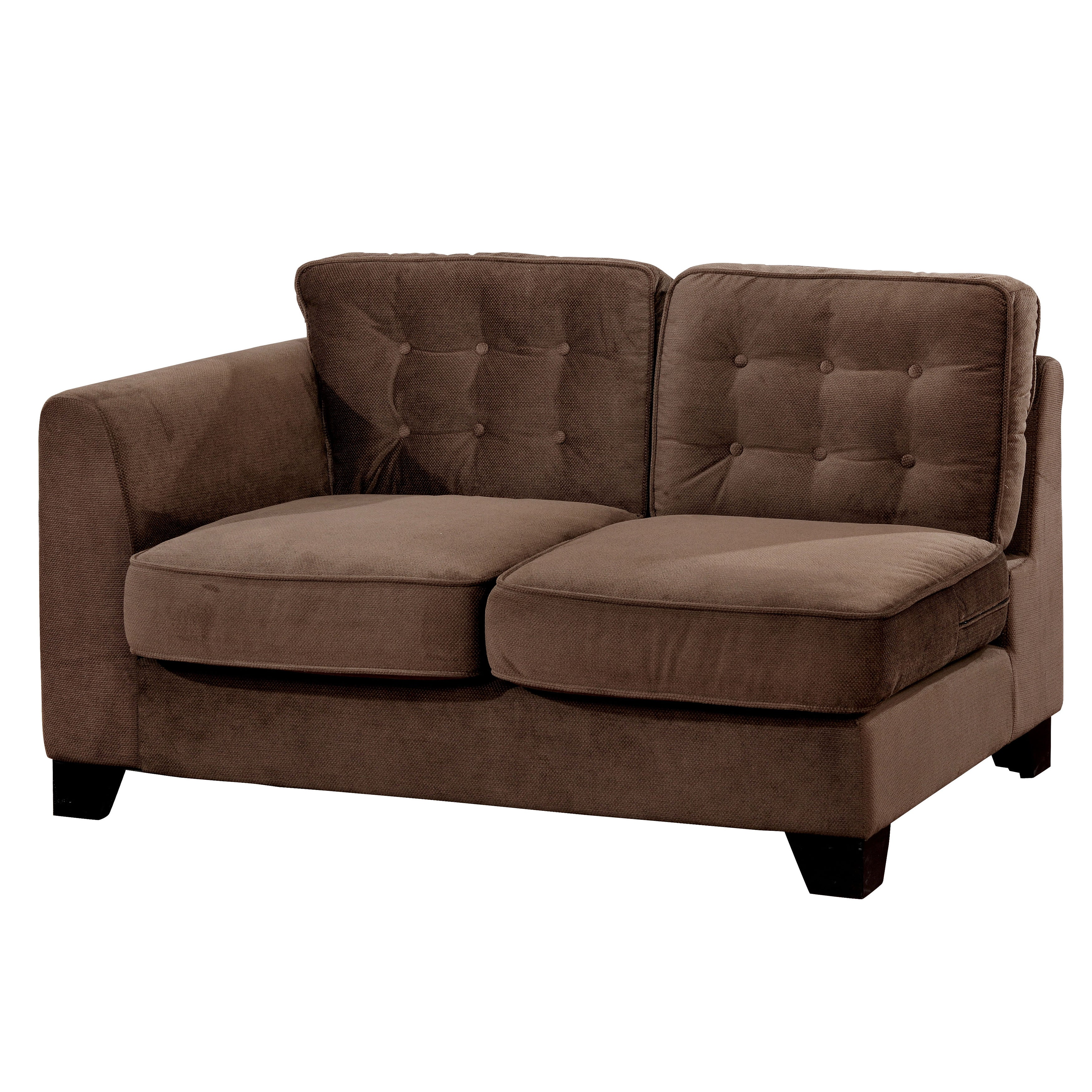 Higgins Contemporary Brown Tufted Sofa By Foa