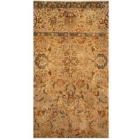 Herat Oriental Indo Hand-knotted Vegetable Dye Oushak Wool Rug - 2'2 x 4'