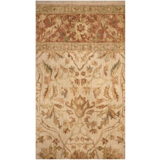 Herat Oriental Indo Hand-knotted Vegetable Dye Oushak Wool Rug (2'2 x 4')