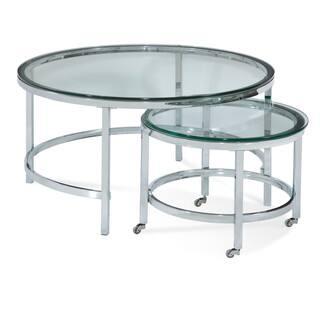 Buy Glass Bassett Mirror Company Coffee Console Sofa End Tables