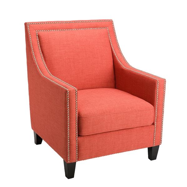 HomePop Edwin Arm Chair - Coral