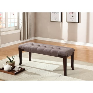 Link to Copper Grove Bloodroot Linon Tufted Ottoman Bench Similar Items in Living Room Furniture
