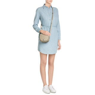 Rag & Bone Women's Leeds Blue Cotton Denim Shirtdress