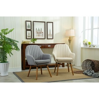 Shop Oatmeal Tweed Style Arm Chair Free Shipping Today