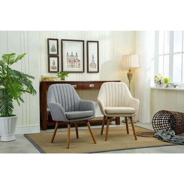 Shop Carson Carrington Fellingsbro Pleated Fabric Accent Chair ... 09700b4a0