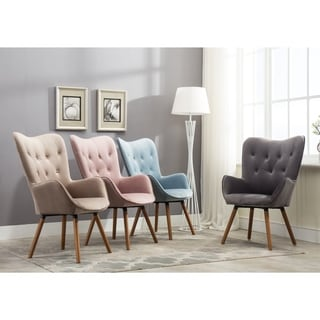 Carson Carrington Arvika Button Tufted High Back Velvet Accent Chair (More  Options Available)