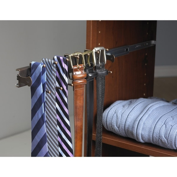 ClosetMaid SuiteSymphony Sliding Tie and Belt Rack