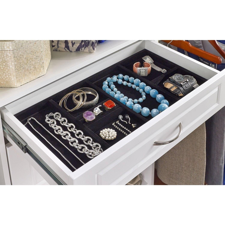 Closetmaid SuiteSymphony Jewelry Tray Drawer Insert (Black)