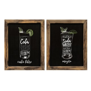 Stratton Home Decor 'Cocktails' Wall Art (Set of 2)