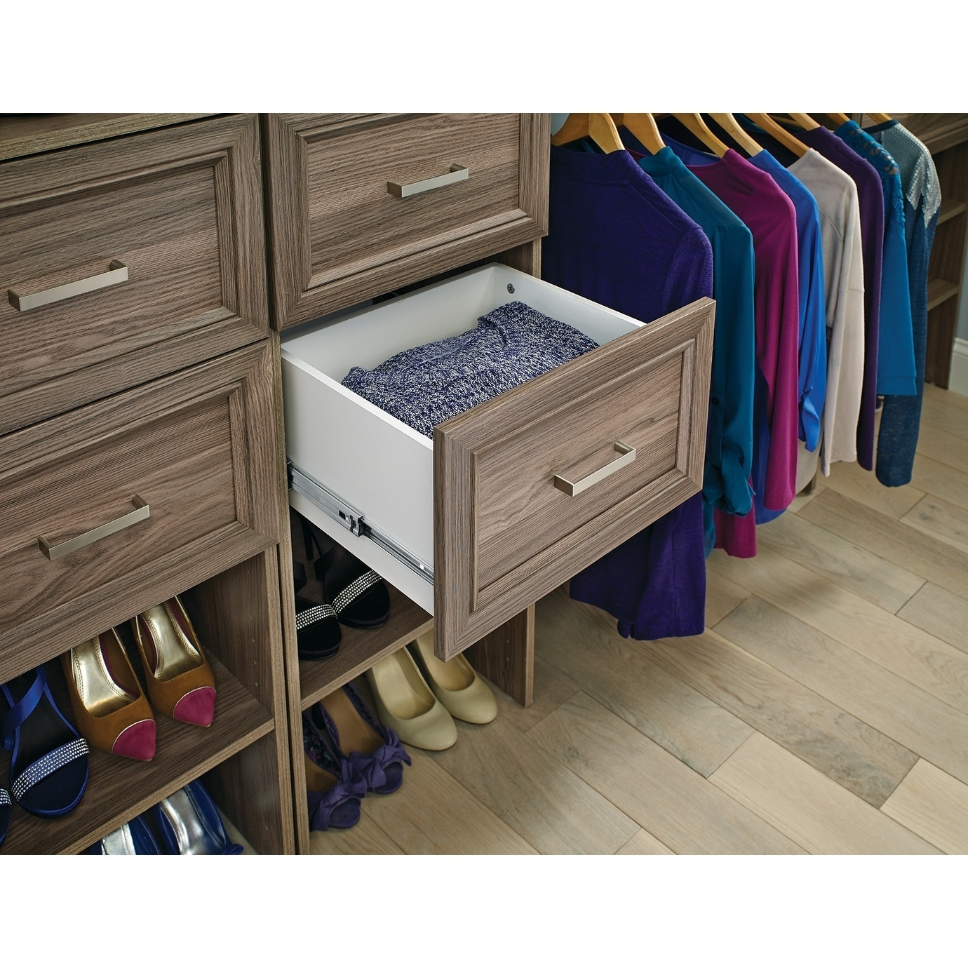 maid with wire drawers in conjunction closetmaid closet shelving also