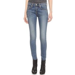 Rag Bone Women's Blue High-rise Skinny Jeans
