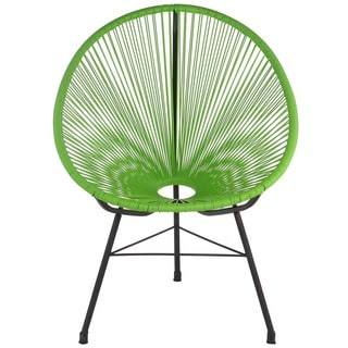 Handmade Acapulco Green Basket Lounge Chair (China)